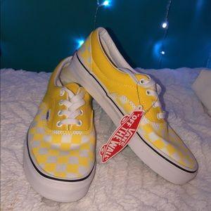 Yellow Checkerboard Vans